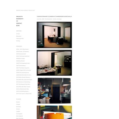 Thomas Demand's Camera at Hamburger Kunsthalle