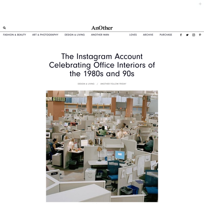 The Instagram Account Celebrating Office Interiors of the 1980s and 90s