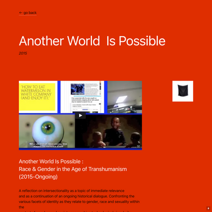 Another World Is Possible — The Young Never Sleep