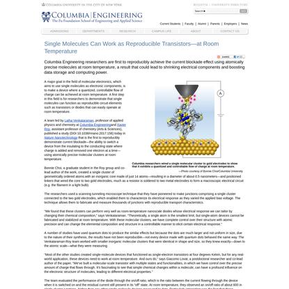 Single Molecules Can Work as Reproducible Transistors-at Room Temperature
