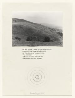 On this Hillside…, Richard Long, 1972, MoMA: Drawings and Prints