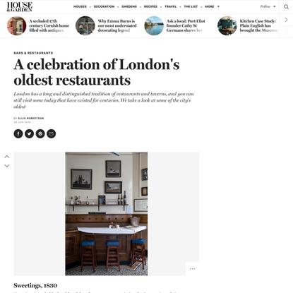 A celebration of London's oldest restaurants