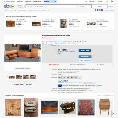 Danish Modern Bedroom Set Teak | eBay