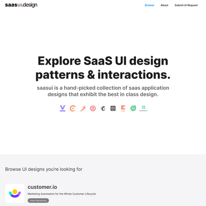 Latest SaaS UI Design Patterns UX and Interactions Library