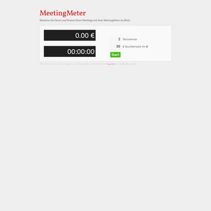 Was kostet Ihr Meeting? | MeetingMeter