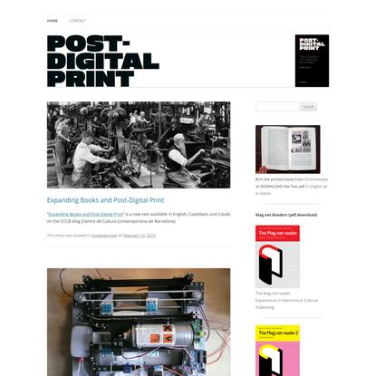Post Digital Print | the mutation of publishing