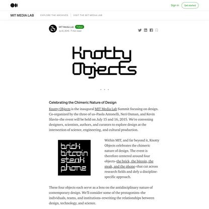 Knotty Objects