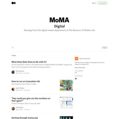 Digital @ MoMA – Medium