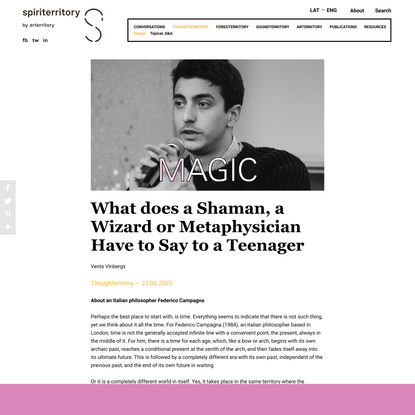 What does a Shaman, a Wizard or Metaphysician Have to Say to a Teenager