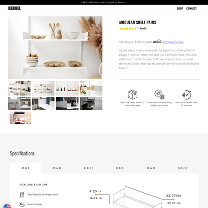 Modular Shelves | Kernel Modular | Modular furniture that floats above the rest.