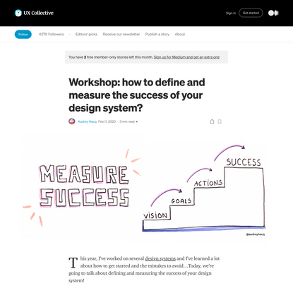 Workshop: how to measure your design system success?