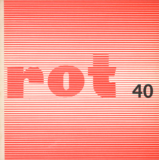 Klaus Burkhardt and Reinhard Döhl, «rot» 40: 'Poem Structures In the Looking Glass', Edition Rot, Stuttgart, 1969
