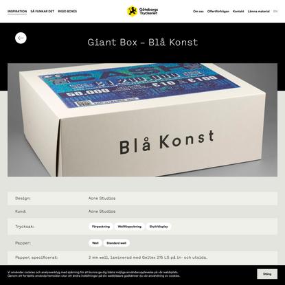 Giant Box – Blå Konst – Göteborgstryckeriet