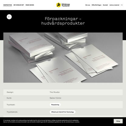 Förpackningar – hudvårdsprodukter – Göteborgstryckeriet