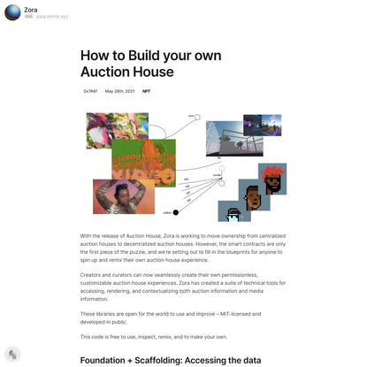How to Build your own Auction House — Mirror