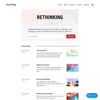 Dror Poleg — Official Website