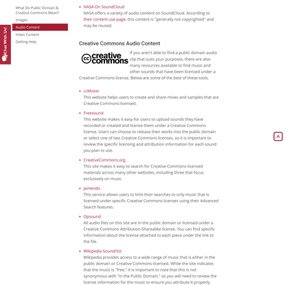 Research Guides: Finding Public Domain & Creative Commons Media: Video Content