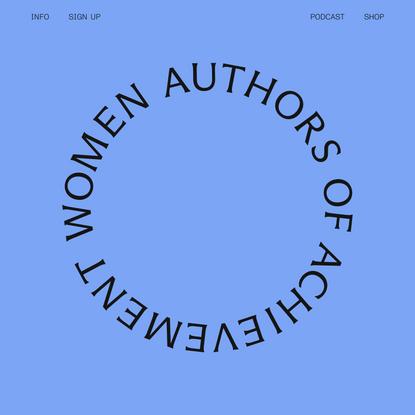 Women Authors of Achievement