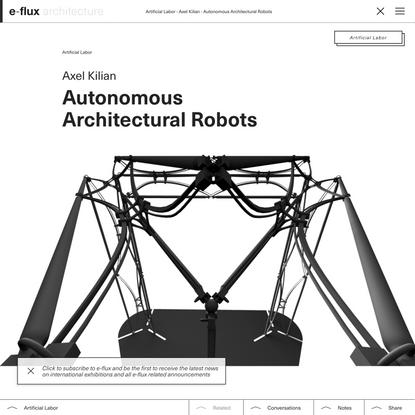 Autonomous Architectural Robots