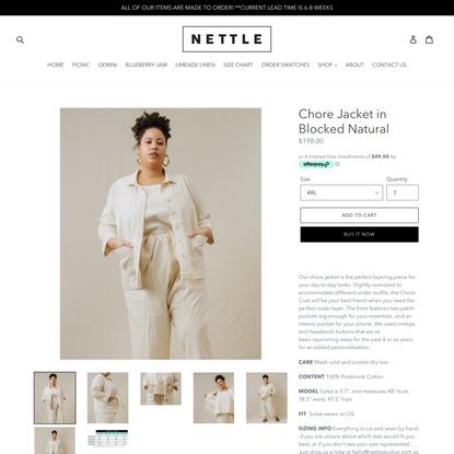 Chore Jacket in Blocked Natural