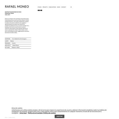 DIESTRE TRANSFORMER FACTORY – Rafael Moneo Arquitecto