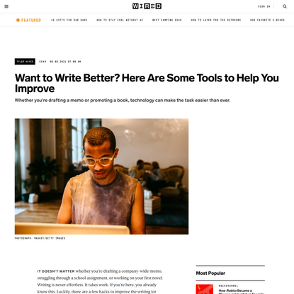 Want to Write Better? Here Are Some Tools to Help You Improve