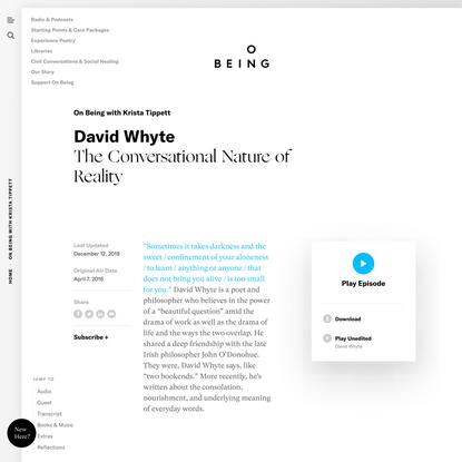 David Whyte w/ Krista Tippett