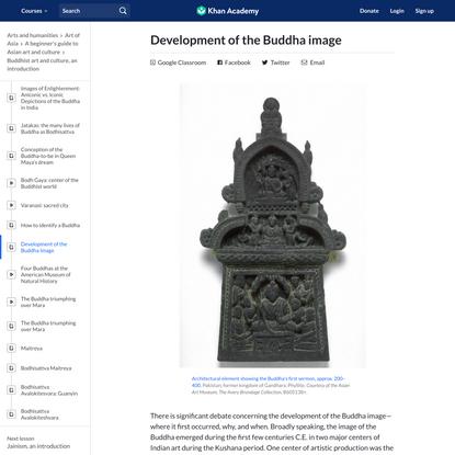Development of the Buddha image   Buddhist art (article)   Khan Academy