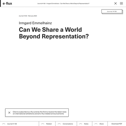 Can We Share a World Beyond Representation?