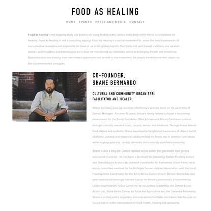 Food as Healing