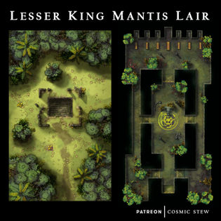 Lesser King Mantis Lair - Jungle Encounter Maps!
