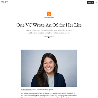 One VC Wrote An OS for Her Life