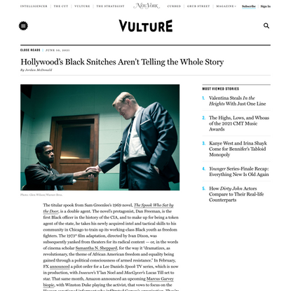 Hollywood's Black Snitches Aren't Telling the Whole Story