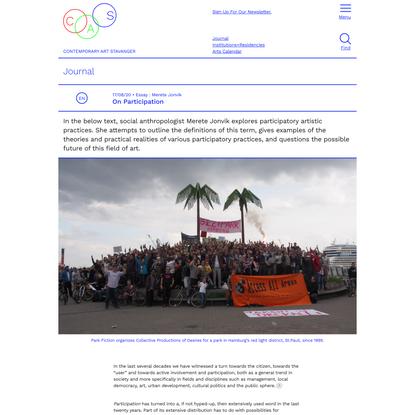 On Participation – CAS