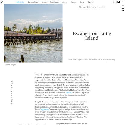 Escape from Little Island   Michael Friedrich