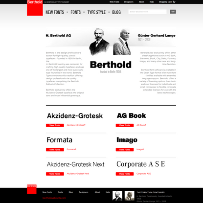Browse and purchase Berthold BQ and Berthold BE Adobe Related typefaces from the H. Berthold Typefoundry Berlin.