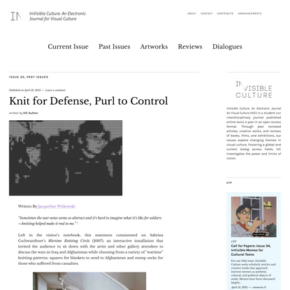 Knit for Defense, Purl to Control
