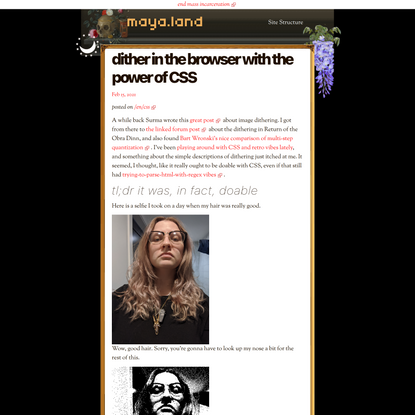 dither in the browser with the power of CSS