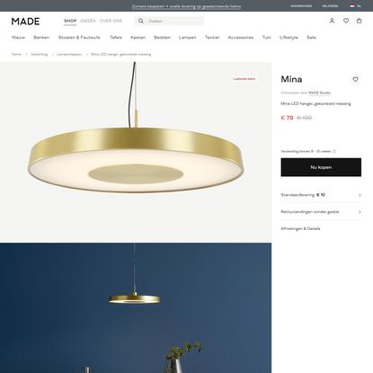 Mina LED hanger, geborsteld messing | MADE.com