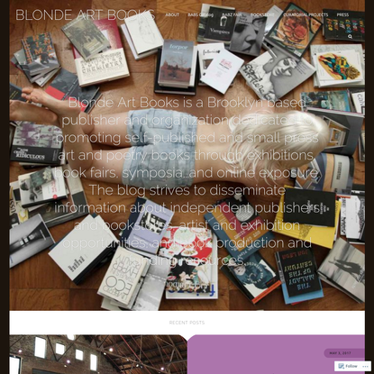 BLONDE ART BOOKS