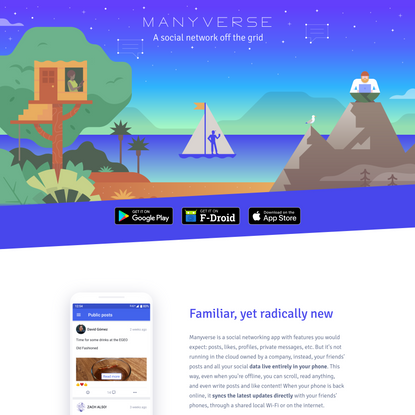 Manyverse – a social network off the grid