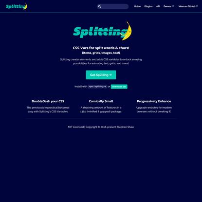 Splitting.js