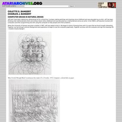 Artist and Computer - COLETTE S. BANGERT & CHARLES J. BANGERT