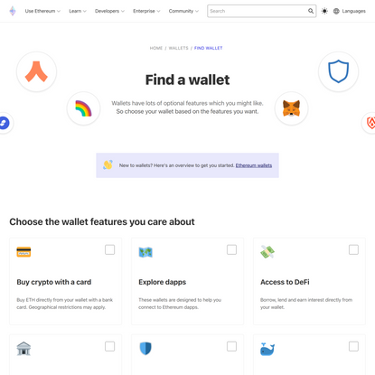 Find an Ethereum Wallet | ethereum.org