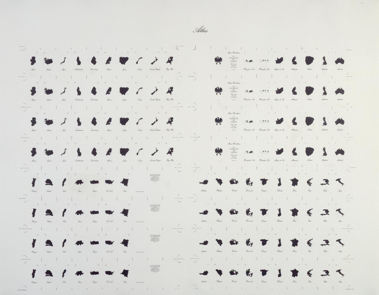 Marcel Broodthaers, Atlas (1975)