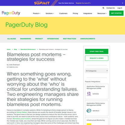 Blameless post mortems - strategies for success | PagerDuty