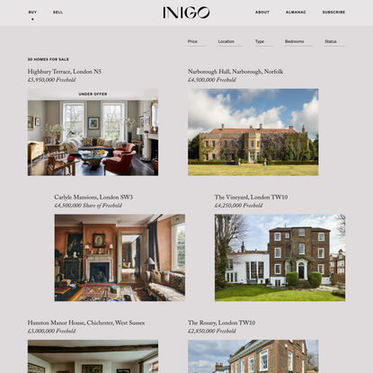 Inigo   Purveyors of Splendid Homes in Town and Country