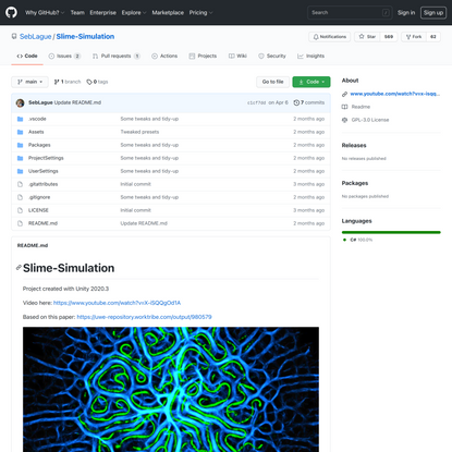 SebLague/Slime-Simulation