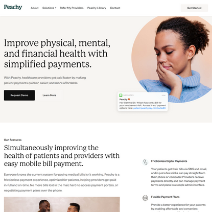 Fast and Easy Medical Bill Payment Platform - Peachy