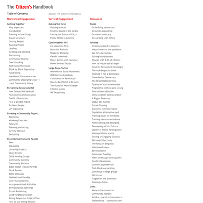 The Citizen's Handbook / Table of Contents